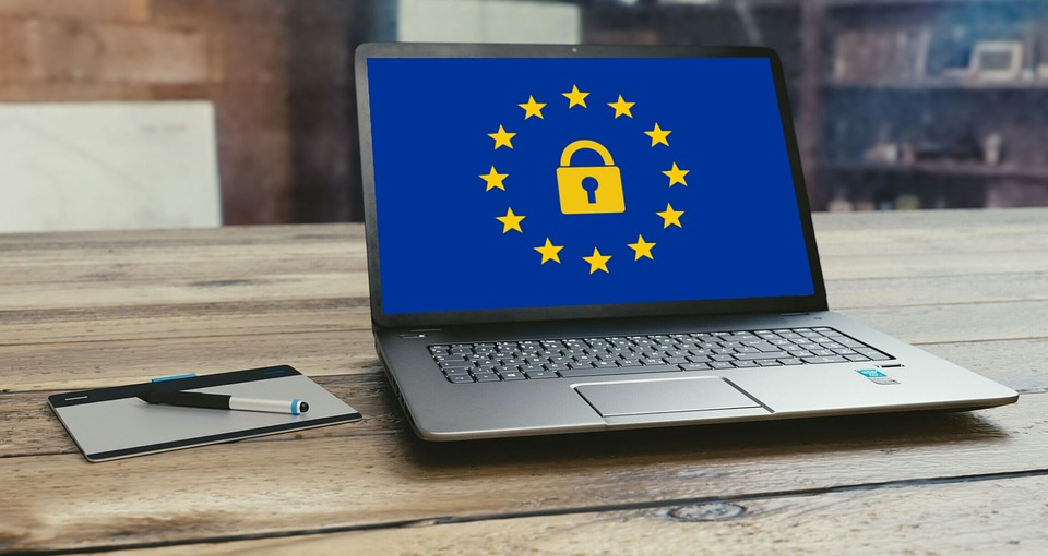 GDPR on laptop screen