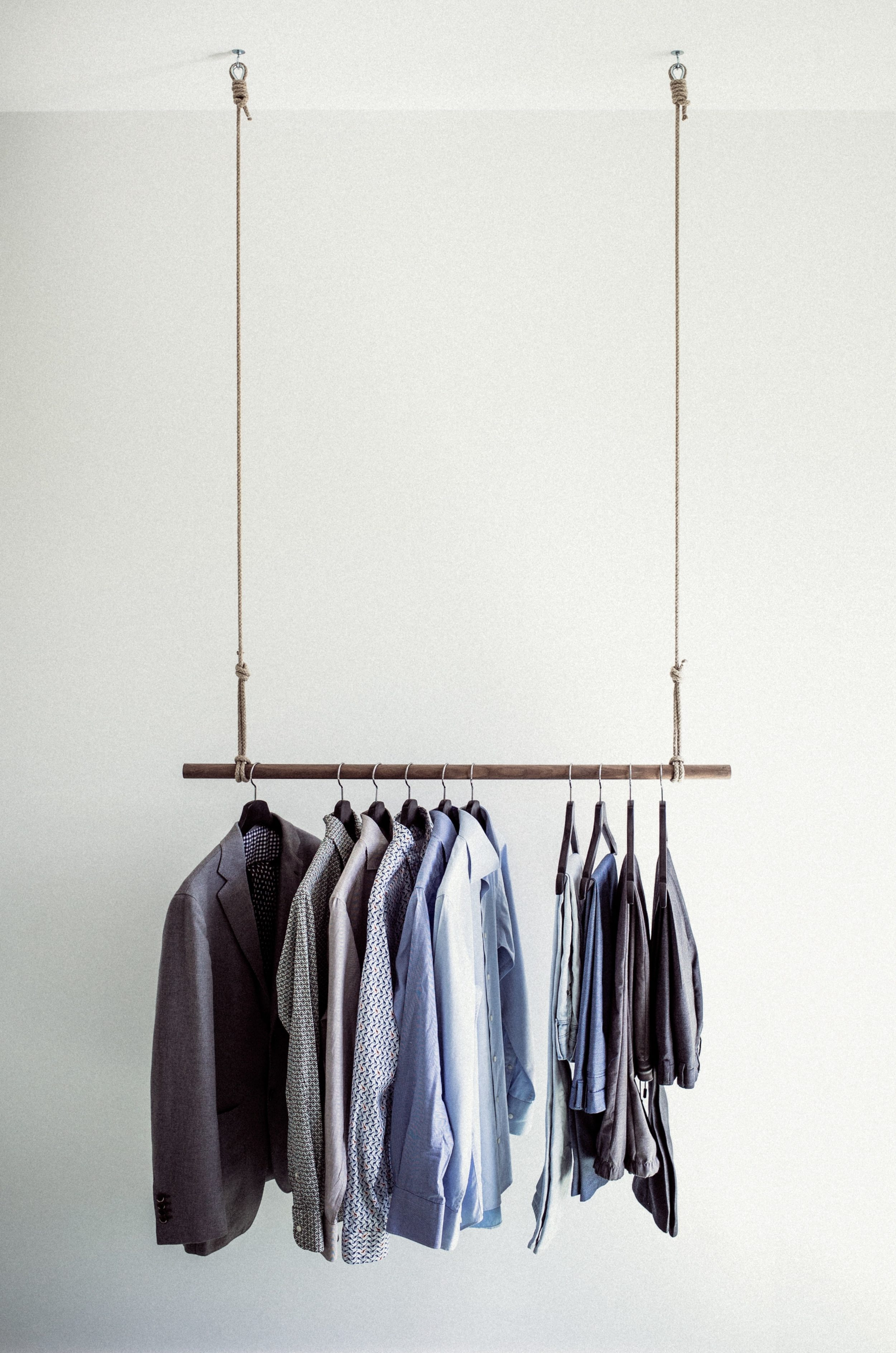 Clothes hanging up