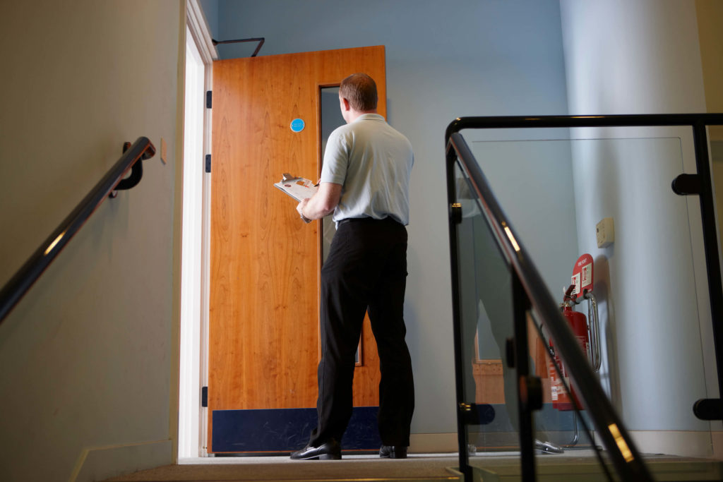 Fire door inspection